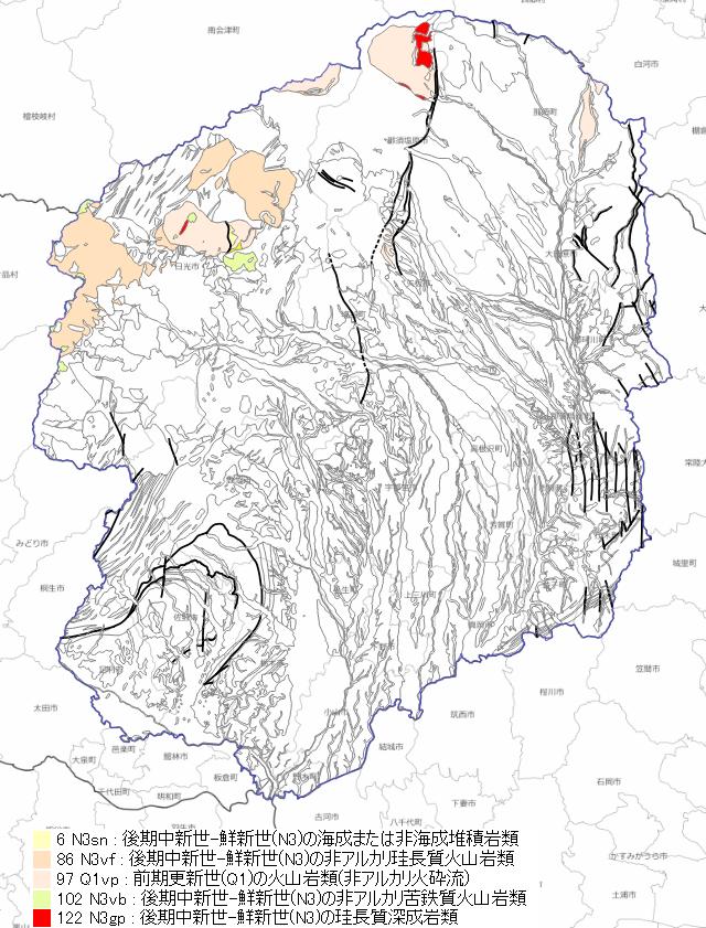 新第三紀後期の地質